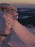 Scenic Snow Formations at Twilight