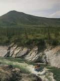 Rafting the Sheep Slot Rapids of the Firth River in Yukon Territory