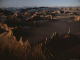 Aerial View of the Rock Formations That Dot Monument Valley