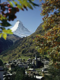 Zermatt Village with the Matterhorn in the Background