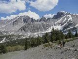 View of Wheeler Peak  Great Basin Nnational Park  Nevada