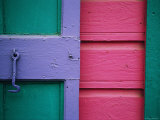 A Colorful Door Painted in Pastel Colors