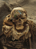 A Close View of a Mummy Exhumed at the Cemetary at Puruchuco-Huaquerones