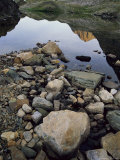 A Rocky Shore and Reflections on Water in the San Juan Mountains