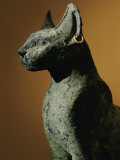 Bronze Statue of Cat Representing the Goddess Bastet