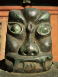 A Carving of a Face in the Bogdo Khan Palace Museum  Mongolia