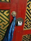 A Decorated Doorway in Ulaanbaatar  Mongolia