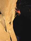 A Man Rock Climbing on El Capitan  Yosemite  California