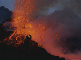 A Scientist Shields Himself in Front of a Fiery Eruption
