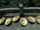 Bamboo Hats for Sale on Folded Brocade Hill  Guilin  Guangxi  China