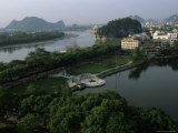 Lake with Park and Elephant Trunk Hill  Guilin  Guangxi  China