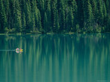 Canoeing on Still Water of Yoho National Parks Emerald Lake