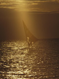 Windsurfing at Dusk
