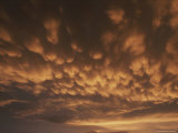 Mamatus Clouds Before a Storm at Sunset