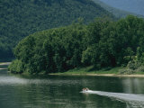 A Small Motorboat on the Susquehanna River Near the Endless Mountains