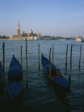 A View over the Grand Canal and Gondolas to the Island of Saint George