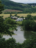 A Farm on the Banks of the Susquehanna River  Photograph Taken Near the Endless Mountains
