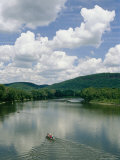 Canoeists on the Susquehanna River Near the Endless Mountains