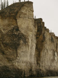 Limestone Cliffs Bordering the Mackenzie River