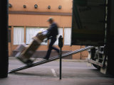 The Blur of an Early-Morning Delivery in Old Santa Fe