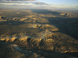 Aerial View of Mesas Shrouded in Shadows