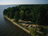 Aerial of Excavated Early 17th-Century Site of James Fort  Jamestown on the James River