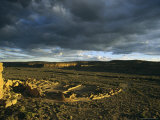 Twilight View of the Anasazi Ruins at Pueblo Bonito