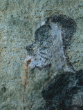 Detail from a San Mural Painting of a Shaman Bleeding from the Nose