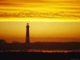 Pea Island Lighthouse at Dusk