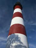 Skyward View of the Assateague Island Lighthouse Against a Blue Sky