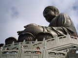 The Big Buddha at Po Lin Monastery on Lantau Island  Hong Kong