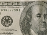 Portrait of Benjamin Franklin on the One Hundred Dollar Bill