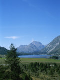 View of the Engadin Valley outside St Moritz