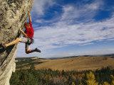 Young Man Climbing the Rock Feature Known as Bobcat Logic