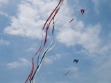 Train of Kites Flies at the Jockeys Ridge Kite Festival