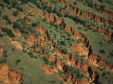 Aerial View of Red Rock Canyons
