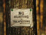 No Trespassing Sign Is Posted on Private Property