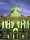 The Hofburg Gate in the Hofburg Palace at Dusk