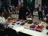Food on Display at an Outdoor Market in Feng Du  Chinas Ghost City