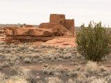 Wukoki Pueblo and Desert Landscape