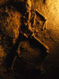 Skeleton from a Human Sacrifice Turns to Stone in a Cave in Belize