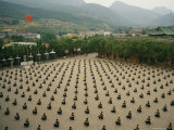 Kung Fu Students Meditate in Unison at the Ta Gou Academy