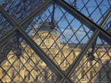 The Louvre as Seen Through the Glass Pyramid of its Entrance