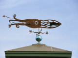 A Squid-Shaped Weather Vane Atop a Cupola