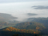 Sunlight Breaks Through Fog-Filled Shenandoah Valley