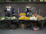 Street Vendors Sell Fruits and Vegetables