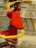 Tibetan Dancer Performs at the Chinese Ethnic Culture Park