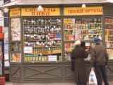 Snacks and Drinks are Sold from a Kiosk on Nevsky Prospect
