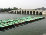 The Marble Seventeen Arch Bridge Spans Kunming Lake