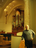 An Organ Manufacturer in a Church with One of His Companys Organs